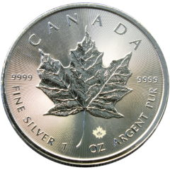 Random Date 1oz Silver Canadian Maple Leaf