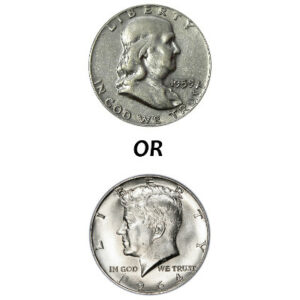 90% Silver Kennedy and Franklin Half Dollars | $1 Face Value