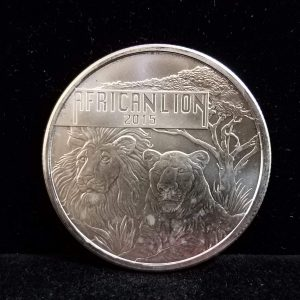 2015 Republic of Burundi African Lion 1 Oz Silver 5000 Francs