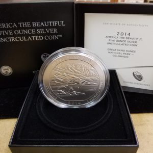 2014 P 5oz Silver Great Sand Dunes ATB