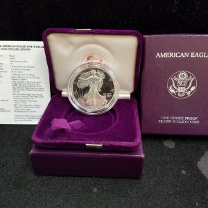 1990 1oz Silver Proof Eagle