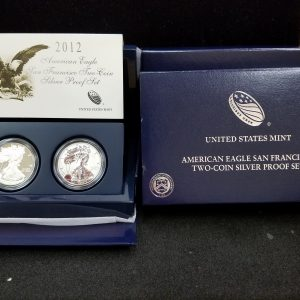2012 2pc Silver Proof Eagle Set
