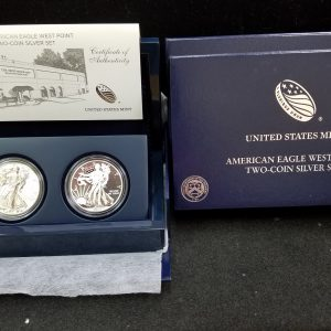 2013 2pc West Point Silver Eagle set