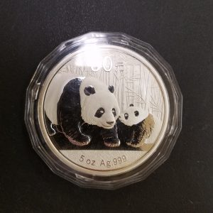 2011 5oz silver Proof Panda