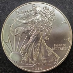 2014 1oz Silver American Eagle Uncirculated