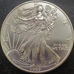 1997 1oz Silver American Eagle Uncirculated
