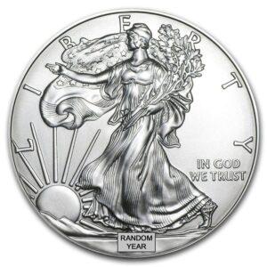 1 Oz American Silver Eagles – Random Backdate/Year